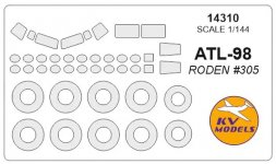 ATL-98 Carvair mask for Roden 1:144
