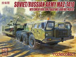MAZ-7410 with ChMZAP-9990 semi-trailer and  T-80BV 1:72