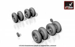 B-52 Stratofortress wheels w/ weighted tires 1:72