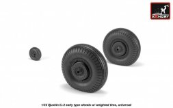 IL-2 Bark early type wheels w/ weighted tires 1:32