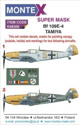 Bf 109E-4 Super Mask for Tamiya 1:48