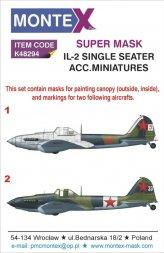 Il-2 (single seater) Super Mask for Accurate Mi. 1:48