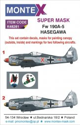 Fw 190A-5 Super Mask for Hasegawa 1:48