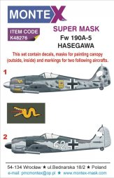 Fw 190A-5 Super Mask for Hasegawa P.1 1:48