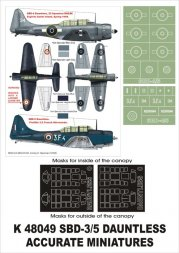 SBD-4/5 Dauntless Super Mask for ACC. Miniatures 1:48