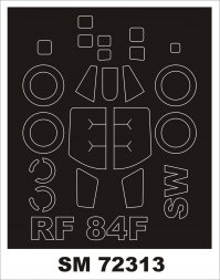 RF-84F mask for Sword 1:72
