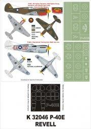 P-40E Super Mask for Revell 1:32