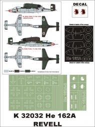 He 162A-2 Super Mask for Revell P.2 1:32