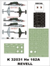 He 162A-2 Super Mask for Revell P.1 1:32