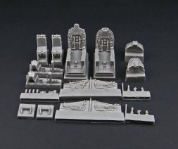 Su-25UB/UBK cockpit set 1:48
