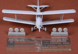 De Havilland DH-82 Tiger Moth rigging & wheel 1:72