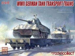 German tank transport trains set WWII 1:72
