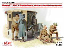 Ford Model T 1917 Ambulance with US Mesical Personnel 1:35