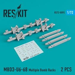MBD3-U6-68 Multiple Bomb Racks 1:72