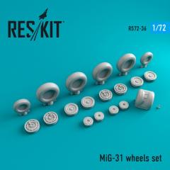 MiG-31 wheels set 1:72