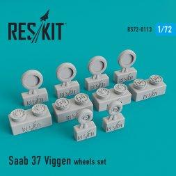 Saab 37 Viggen wheels set 1:72