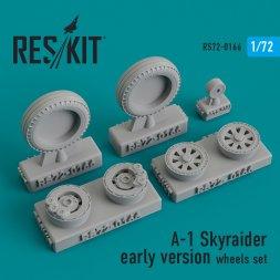A-1 Skyraider early version wheels set 1:72