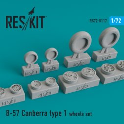 B-57 Canberra type 1 wheels set 1:72