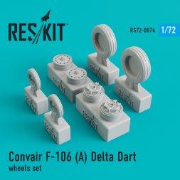 F-106А Delta Dart wheels set 1:72