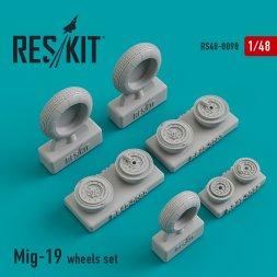 Mig-19 wheels set 1:48