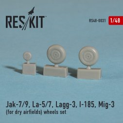 Soviet fighter Aircraft wheels WWII (dry airfields) 1:48