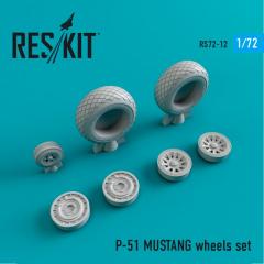 P-51 MUSTANG wheels set 1:72