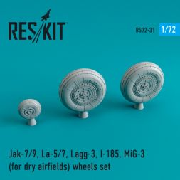 Soviet fighter Aircraft wheels WWII (dry airfields) 1:72