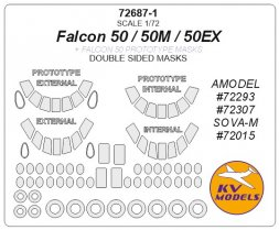 Falcon 50 mask (ouble sided) for Amodel 1:72