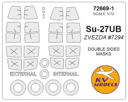 Su-27UB mask (Double sided) for Zevezda 1:72