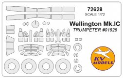 Wellington Mk.IC mask for Trumpeter 1:72