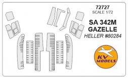 SA 342M GAZELLE mask for Heller 1:72