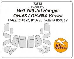 Bell 206 / OH-58A Kiowa mask for Italeri/ Tamiya 1:72