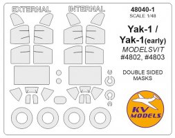 Yak-1 mask (Double sided) for Modelsvit 1:48