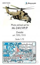 Mil Mi-24V/VP/P interior set for Zvezda 1:72