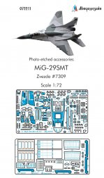 MiG-29SMT detail set for Zvezda 1:72