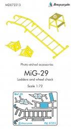 MiG-29 ladder and wheel chock 1:72