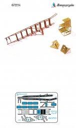 Su-27 ladder and wheel chock 1:72