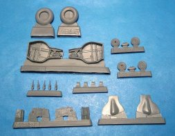 MiG-3 wheel wells and wheels for Trumpeter 1:48