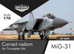 MiG-31 correct radome for Trumpeter 1:72