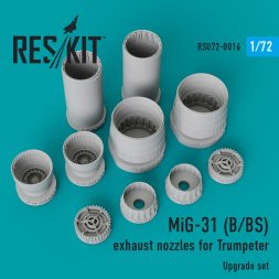 MiG-31B/BS exhaust nozzles for Trumpeter 1:72