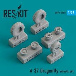 A-37 Dragonfly wheels set 1:72