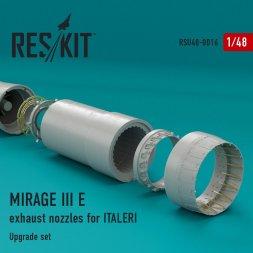 Mirage IIIE exhaust nozzles for Italeri 1:48