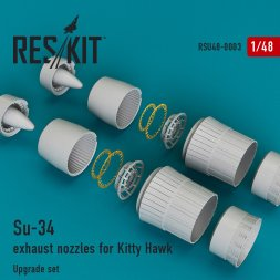 Su-34 exhaust nozzles for Kitty Hawk 1:48