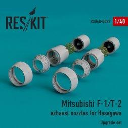 Mitsubishi F-1/T-2 exhaust nozzles for Hasegawa 1:48
