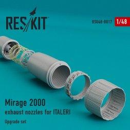 Mirage 2000 exhaust nozzles Italeri 1:48