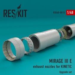 Mirage IIIE exhaust nozzles for Kintec 1:48