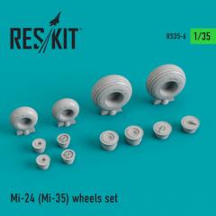 Mil Mi-24 (Mi-35) wheels set 1:35