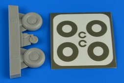 Bucker Bu 131 wheels (disc cover) & paint masks 1:32