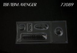 TBF/ TBM Avenger vacu canopy für Hasegawa 1:72