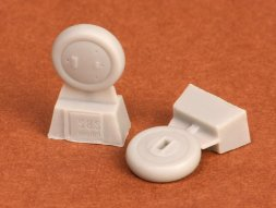 Gloster Gladiator wheels (covered) for Airfix 1:72
